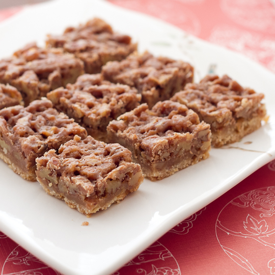 Maple Pecan Pie Bars - Poet in the Pantry