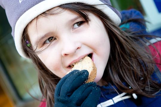 enjoying cookies