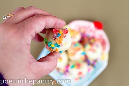 cake batter cookie dough truffles