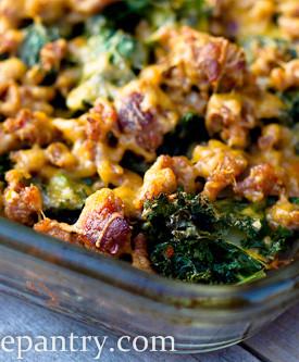 Sausage Kale Potato Casserole
