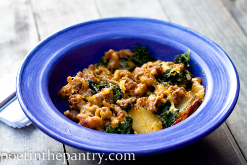 Sausage Kale Potato Casserole - poet in the pantry