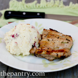 Refrigerator Mashed Potatoes and Cilantro Chicken