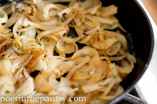 caramelizing onions