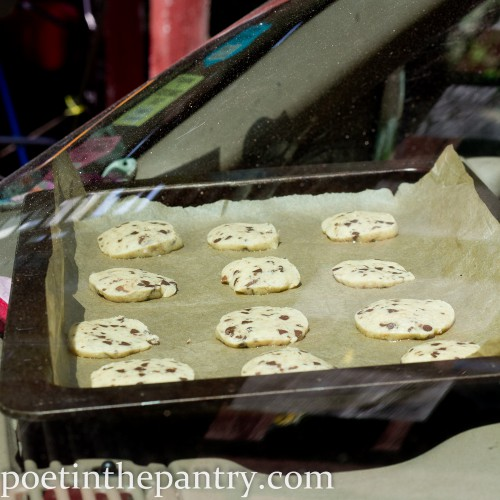 cookies baking on the dashboard