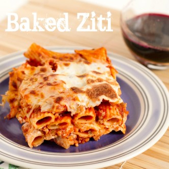 plate of baked ziti