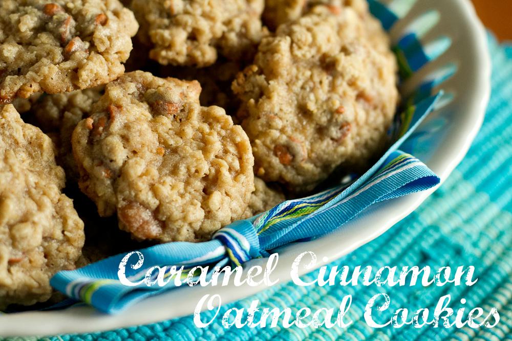 caramel cinnamon oatmeal cookies