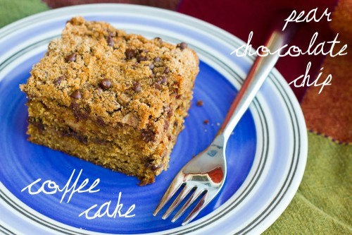 pear chocolate chip coffee cake