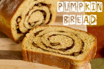 Pumpkin Bread with Cinnamon Walnut Swirl