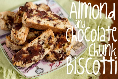 almond chocolate chunk biscotti