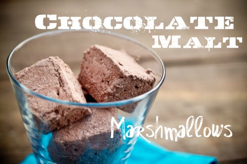 chocolate malt marshmallows