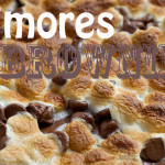 s'mores brownies top