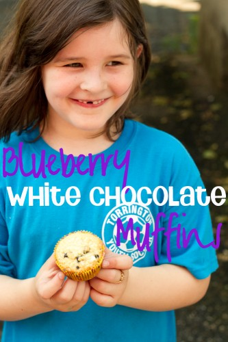 blueberry and white chocolate muffins - poet in the pantry