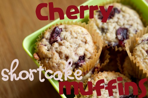 cherry shortcake muffins - poet in the pantry