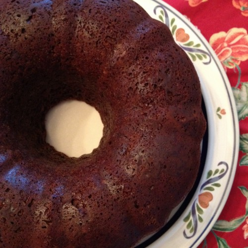 "Almost ""Health Food"" Dark Chocolate Bundt Cake - poet in the pantry"