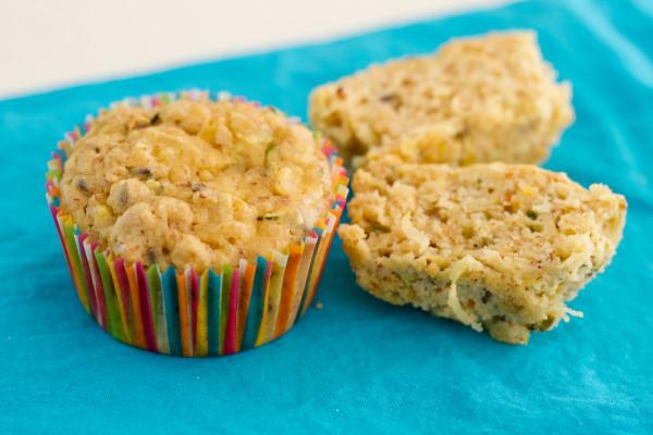 Zucchini Lemon & Lavender Muffins