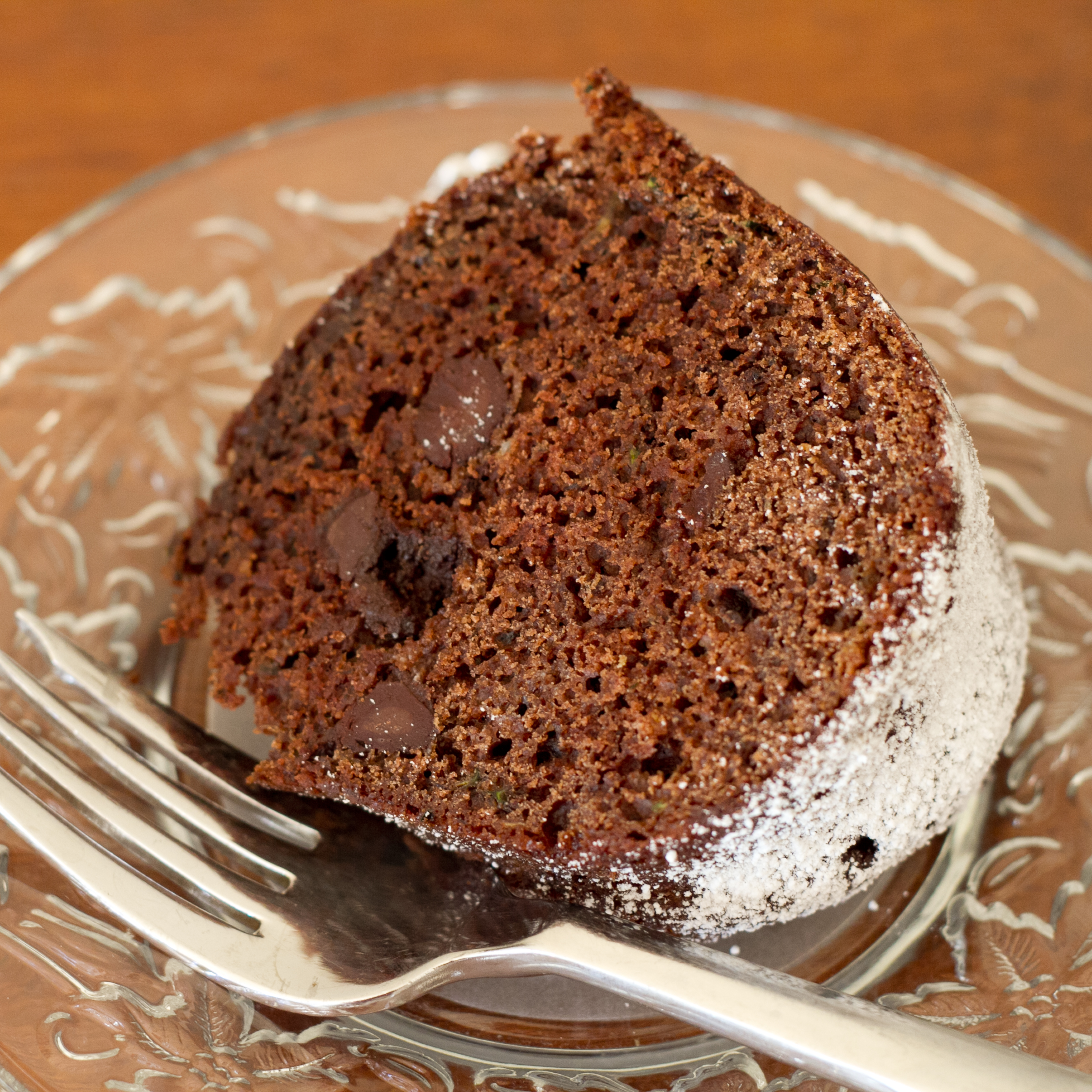 "Almost ""Health Food"" Dark Chocolate Bundt Cake"