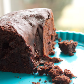 #BundtaMonth Spicy Chocolate Bourbon Bundt Cake - poet in the pantry