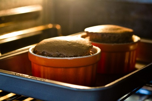 just baked chocolate souffle - poet in the pantry