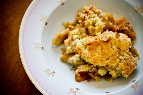 Dutch Apple Crumble - poet in the pantry