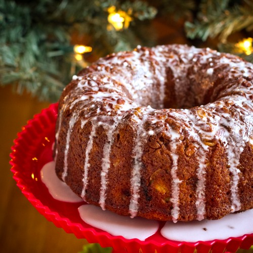 Banana Pineapple Bundt Cake with Coconut Rum Glaze - poet in the pantry