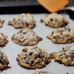 Chocolate Chip Toffee Macaroon Cookies