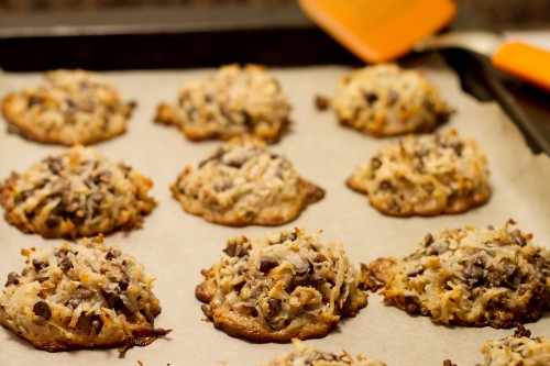 Chocolate Chip Toffee Macaroon Cookies - poet in the pantry