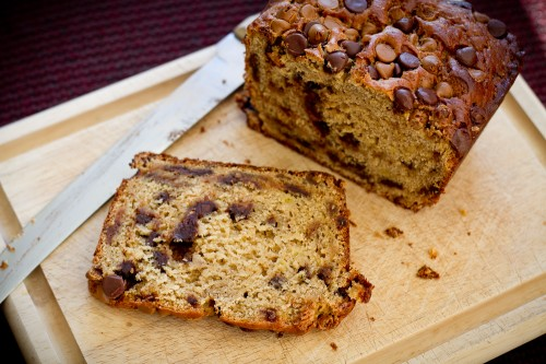 PB and Chocolate Chip Banana Bread - poet in the pantry