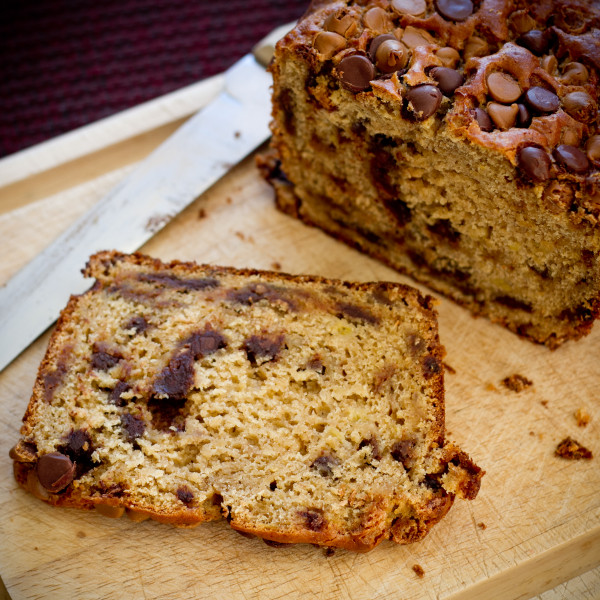 PB and Chocolate Chip Banana Bread