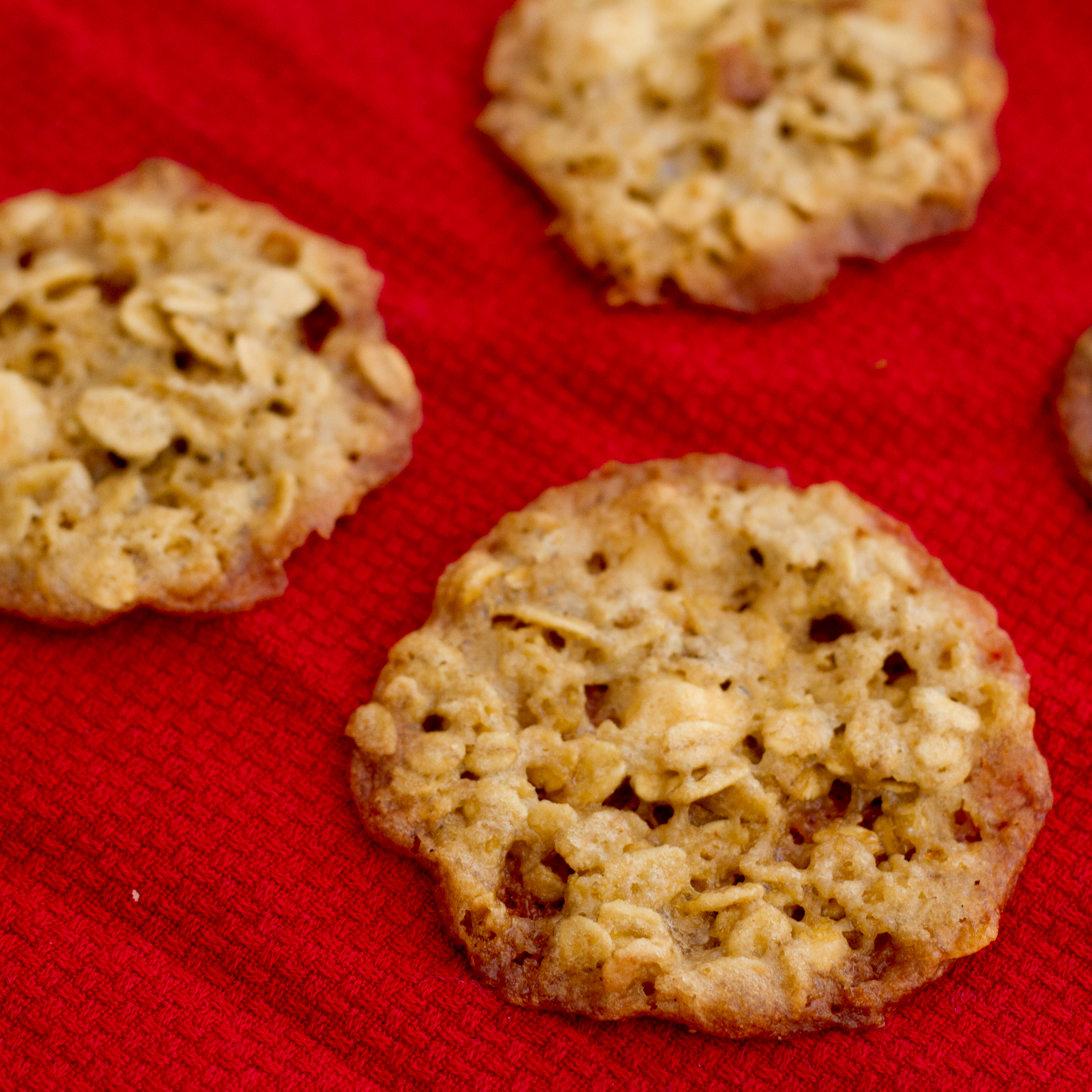 Creamsicle Oatmeal Lace Cookies