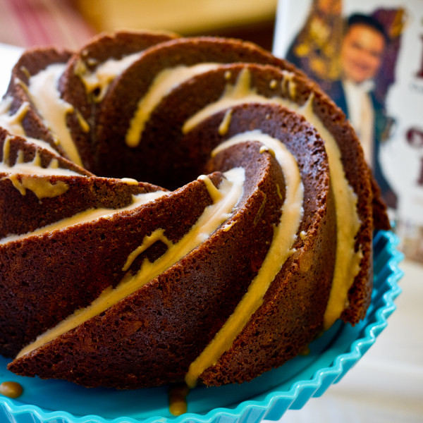 Chocolate Bundt Cake with Peanut Butter Filling