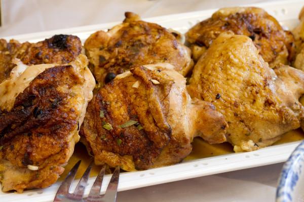 Grilled Chicken Thighs with Brazilian Vinaigrette Salsa