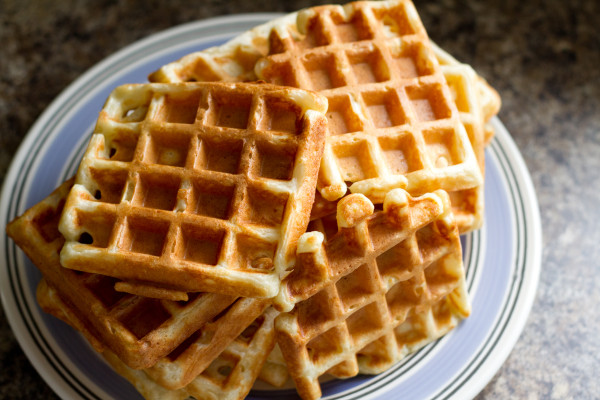 Classic Sourdough Waffles