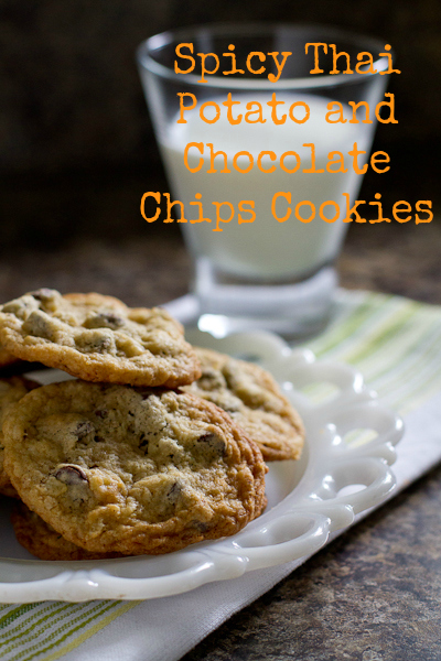 Spicy Thai Potato and Chocolate Chips Cookies