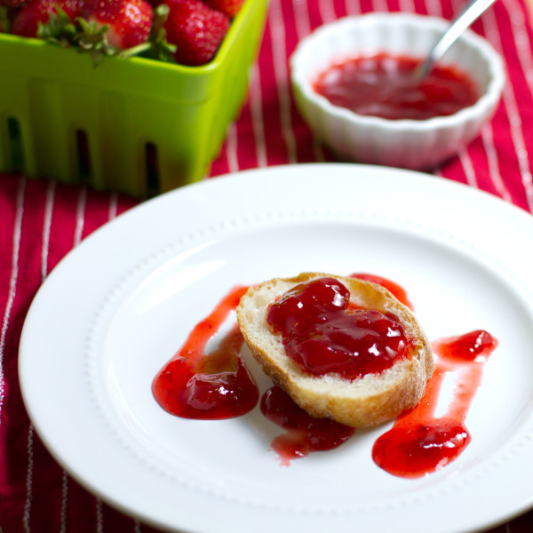 strawberry white wine vinegar jam