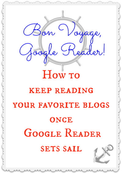 bon voyage google reader