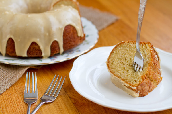 Buttermilk Bundt Cake with Salted Caramel Icing