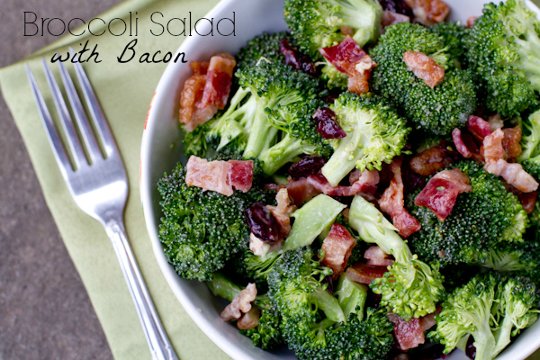 Broccoli Salad with Bacon - poetinthepantry.com