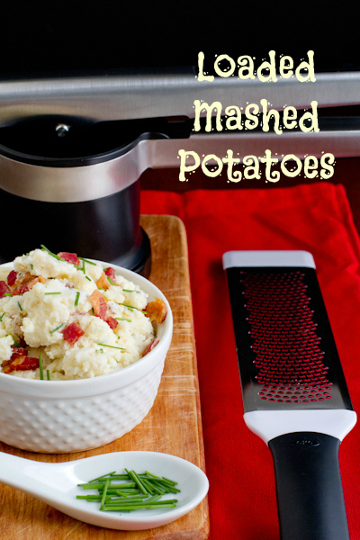 Loaded Mashed Potatoes and OXO tools - poetinthepantry.com