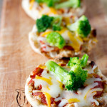 broccoli muffin pizzas vegetables