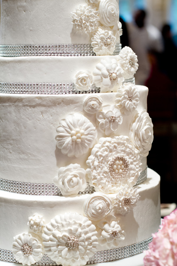 Gorgeous handiwork on this wedding cake from Riverview, which was also the location for the event