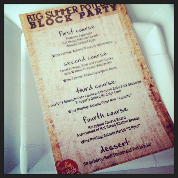 dinner menu #bsp4
