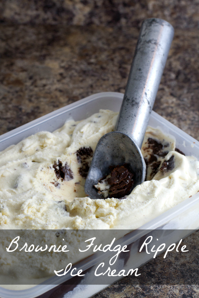 Brownie Fudge Ripple Ice Cream