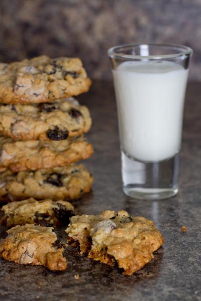 Chocolate Chip Oatmeal Raisin Cookies - Poet in the Pantry