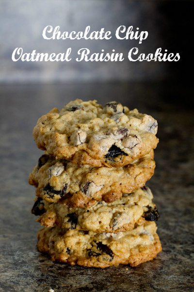 Chocolate Chip Oatmeal Raisin Cookies