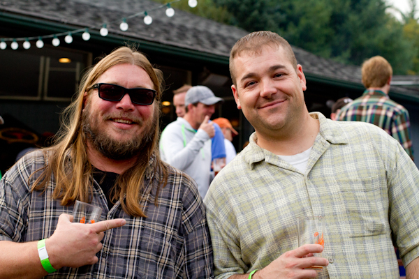 men at Ski Sundown's Brewfest