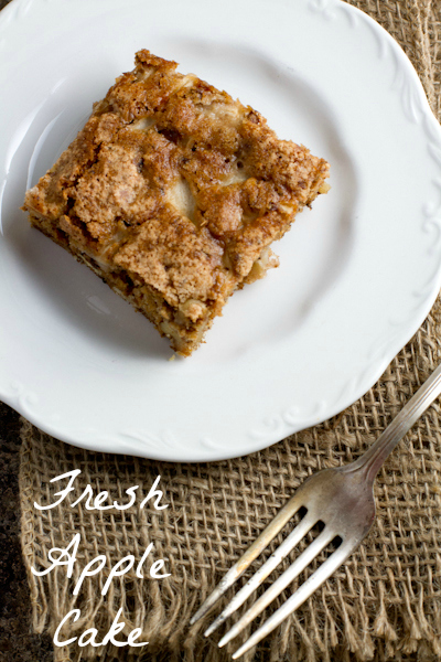 Fresh Apple Cake - poet in the pantry