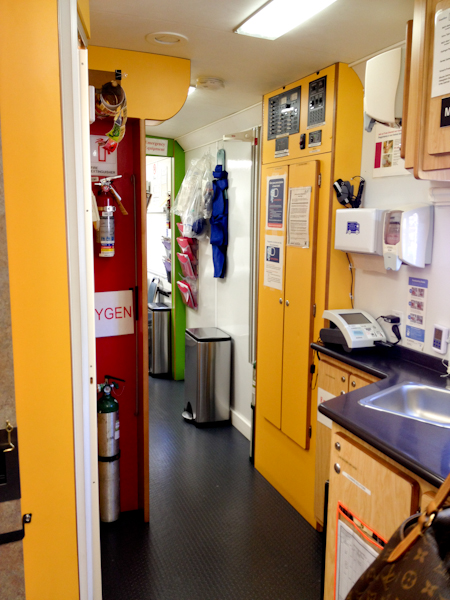 interior of a mobile medical unit