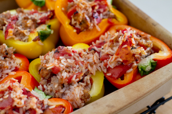 Italian Stuffed Peppers - poet in the pantry