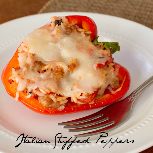 #PepperParty Day 1: Italian Stuffed Peppers