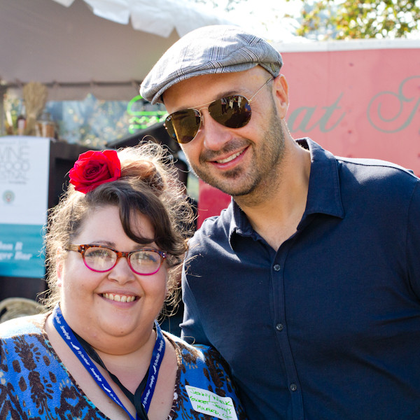Jenny and Joe Bastianich at Greenwich Wine + Food Festival - poet in the pantry